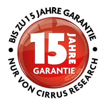 Cirrus Research 15 Jahre Garantieprogramm