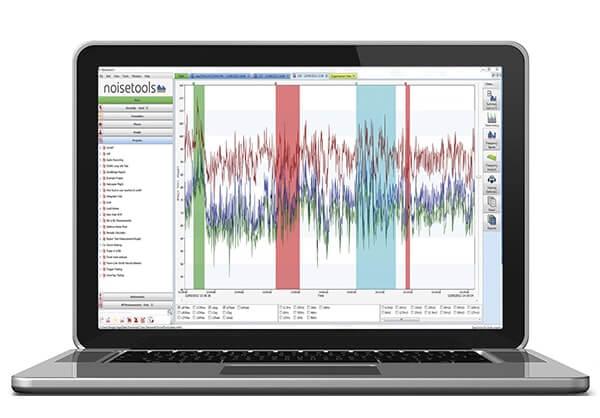 Analyse Programm für Schallpegelmesser