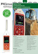 Optimus Green Schallpegelmessgeräte Datenblatt