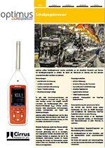 Datenblatt Optimus Yellow Schallpegelmessgerät