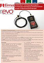 CV:31A Revo Schwingungsmessgerät Datenblatt