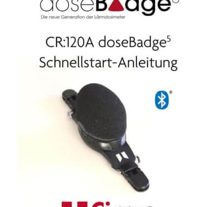 Bedienungsanleitung doseBadge 5 Lärmdosimeter