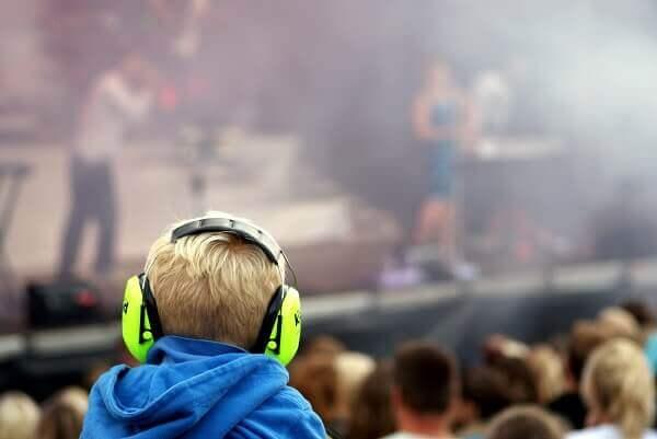 Lärm auf Konzerten
