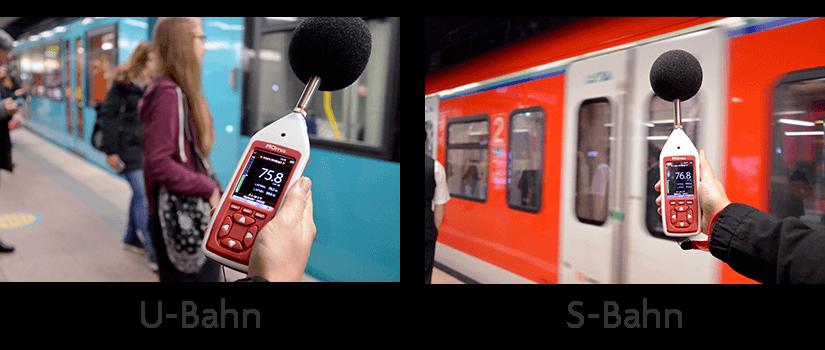 Schallmessung Vergleich S-Bahn und U-Bahn