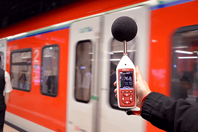 Schallpegelmessung S-Bahn