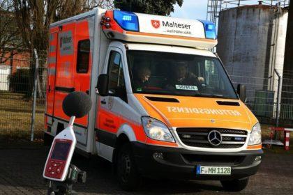 Malteser Hilfsdienst Signalhorn Lautstärke messen
