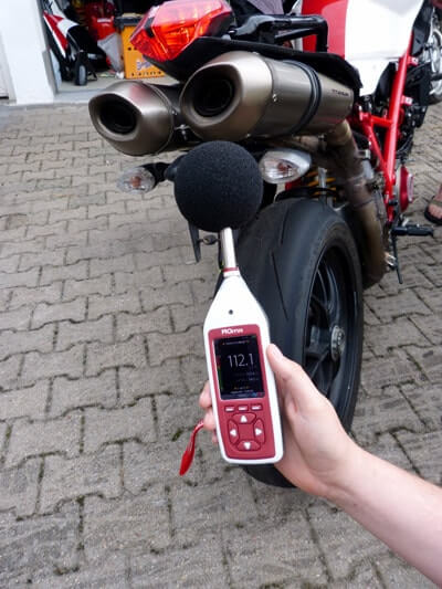 Motorrad Ducati 1098 Lärmmessung