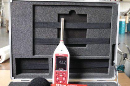 Schallmessung bei Rundschleifmaschine mit einem optimus Schallmessgerät