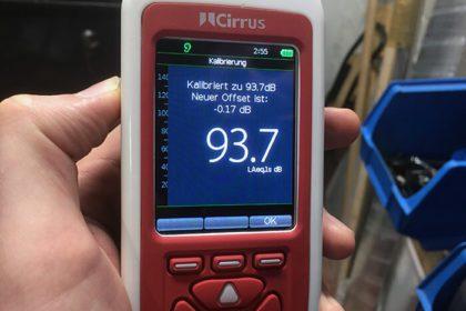 Kalibrierung Schallpegelmessgeräte