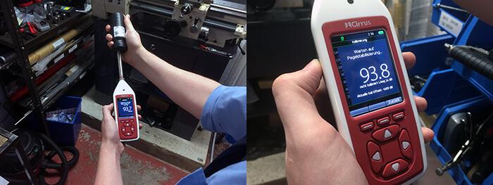Lärmmessgerät vor der Lärmmessung kalibrieren
