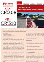 Screenshot Datenblatt CR308 und CR310